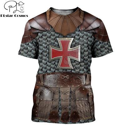 Knight Medieval Armor 3D Printed T-shirt /Harajuku