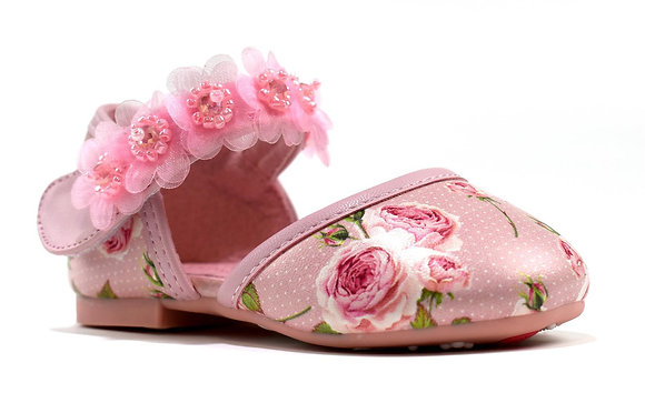 Girl's Floral Pink Shoe