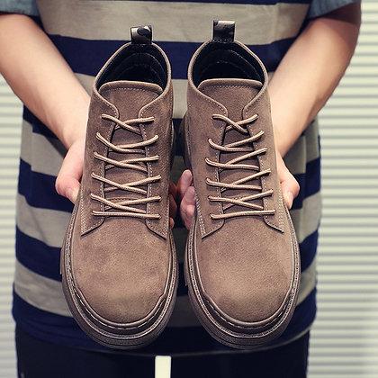 Zapatos De Mujer Platform Men's Leather Boots / Retro Sneakers