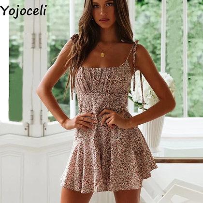 Yojoceli - Sexy Strap Sleeveless Short Playsuit / Elegant Jumpsuit