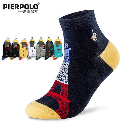 PIER POLO High Quality Business Casual Men's Socks Cotton Breathable  Size39-44