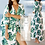 Thumbnail: 2021 Bohemian Printed Beach Wear Long Kimono Cardigan Cotton Tunic Top
