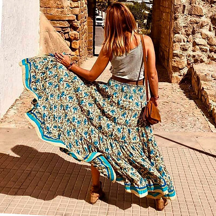 Jastie - Boho Style Irregular Maxi Skirt