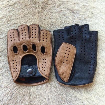 High Quality -Half Finger Genuine Leather Gloves Goatskin Gloves at GOOGOOSTORE