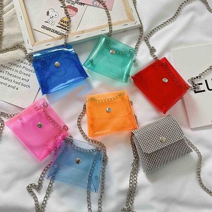 Transparent Jelly Kid's Crossbody Bags / Clutch Purse