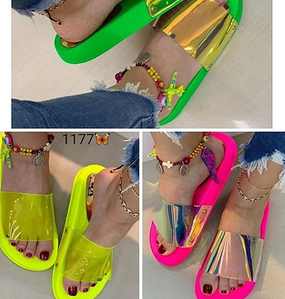 ClearSlip-On Jelly Flat Beach Sandals