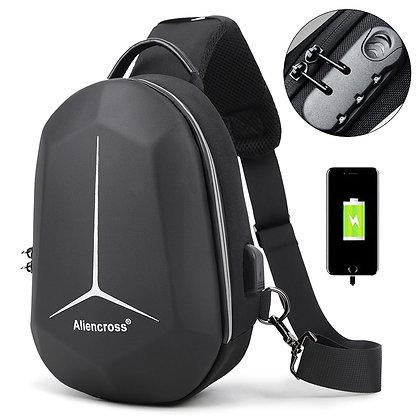 Multifunction Shoulder Bag - Waterproof Chest Bag Anti Theft USB Charging