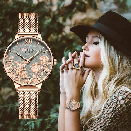 Luxury Stainless Steel Strap Wristwatch Stylish Quartz