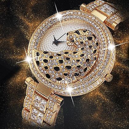 MISSFOX Women Quartz Watch Fashion Bling Casual Quartz Gold Watch Crystal