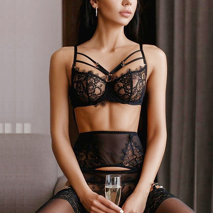 Sexy Lingerie Lace Three-Piece Lingerie / No Steel Ring Femme