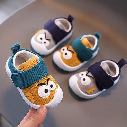 Funny Big Eyes Pattern Toddler Non-Slip Shoes