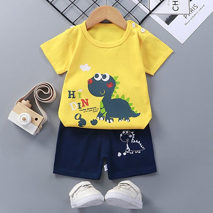 Cotton Baby  Short Sleeve 2-Piece Clothing Set at Googoostore