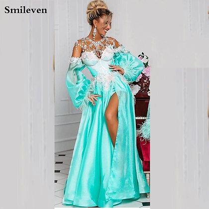 Smileven - Off Shoulder Evening Dress / Evening Party Gowns