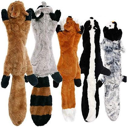 Cute Plush Toys Squeak Pet Wolf Rabbit Animal Plush Toy for dogs