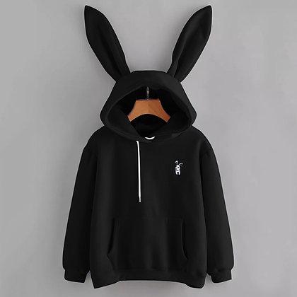 Oversized Hoodie /  Rabbit Embroidery Hoodie
