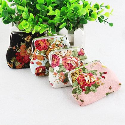 Flower Canvas Women Purse / Mini Bag - GooGooStore