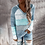 Thumbnail: Hooded Long Sleeve V-Neck Knitted Casual Pullover Jumpers