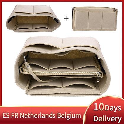 Brand Make Up Organizer Felt Insert Bag for Handbag Travel Inner Purse