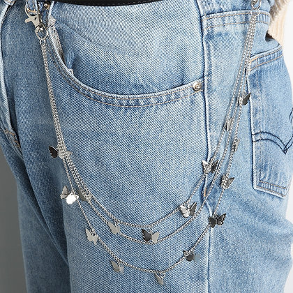 Keychain Jeans Chain HipHop Jewelry