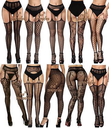 Sexy Stockings / Hosiery GARTER Elastic Quality Transparent Plus Size Lingerie