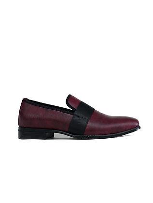 Men's Formal Slip on Shoes Burgundy