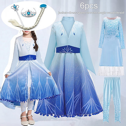 Costume for Toddler Girls Clothes Carnival Princess Dress 3 to 12 Years