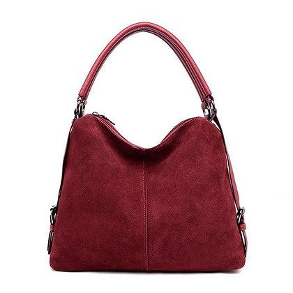 2021 New Real Suede Leather Hobo Bag New Design / Casual Handbag Sac
