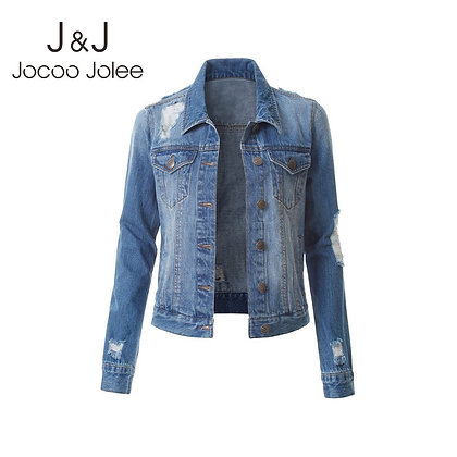 Jocoo Jolee / Vintage Ripped Denim Jackets