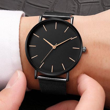 Lux - Rose Gold Black Watch