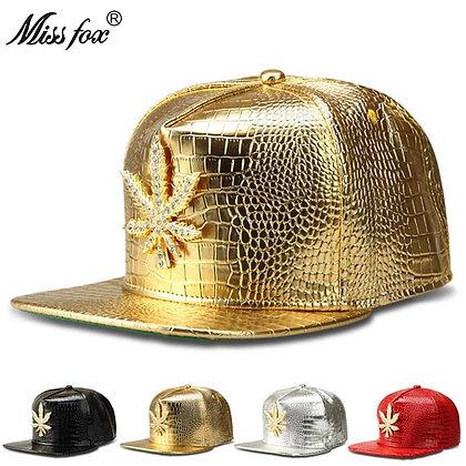 Missfox - Hip Hop Flat-Brimmed Cz Stone Hat / Four Colors at Googoostore