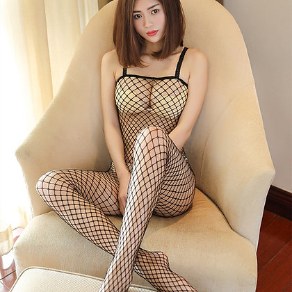 Plus Size Lingerie Sexy Hot Erotic Hollow Mesh Lingerie Fishnet
