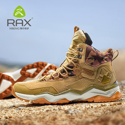 RAX - Genuine Leather Waterproof Hiking Shoes / Anti-Slip Boots at GOOGOOSTORE