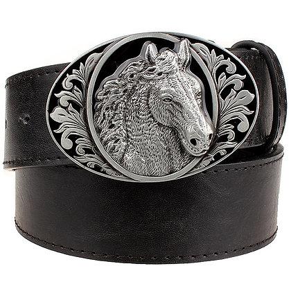 Horse Pattern Animal Belts Cowboy Style Men's Jeans Belt Punk Rock Style