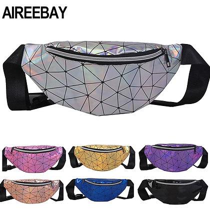 AIREEBAY - Hologram Waist Bag / Leather Chest Bag