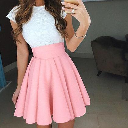 Cute High Waist Tutu Multicolor Pleated Short Skirt @ Googoostore