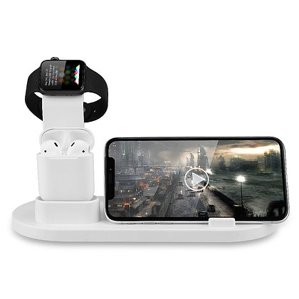 Mobile Phone Watch Airpod Charger Stand 3 in 1 for Iphone 11 Pro XS Max XR