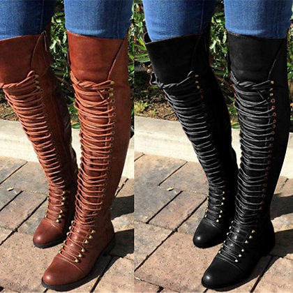 Thigh High / Over the Knee Flat Boots Big Size 34-46