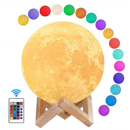 Moon Lamp Night Light 3D Print Moonlight LED Dimmable Rechargeable Bedside Lamp