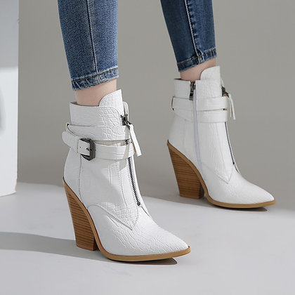 Ankle Boots / Wedge High Heels Boots Runway Design Chunky Heels