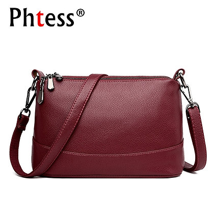 Leather Shoulder Bag Female Handbags High Quality Vintage Shell Bag