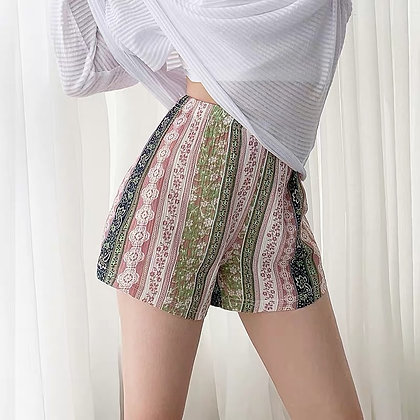 Floral Shorts / Loose Beach Polka Dot Girls Shorts / Plus Sizes