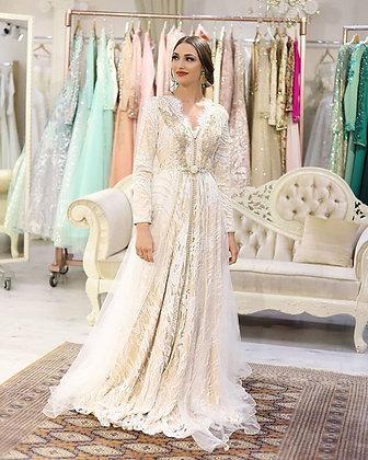 Embroidery Beading - Long Vestido De Festa Evening Dress