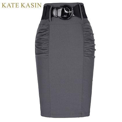 Kate Kasin / Slim Fit Elegant High Waist Skirt