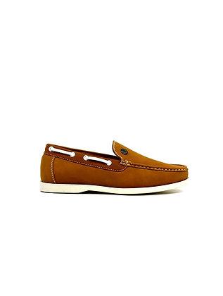 Emblem Boat Shoes Tan
