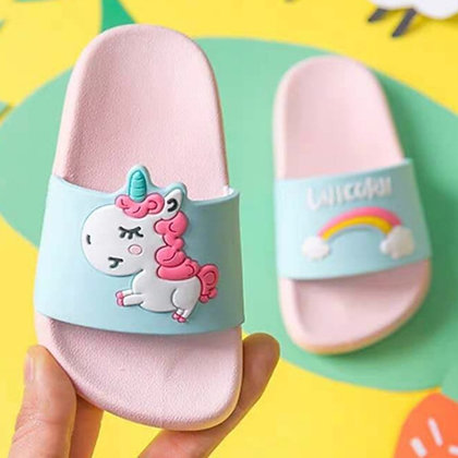 Summer Cute Slippers Unicorn Slippers Boy Girls Shoes Rainbow Toddler Shoes