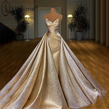 Champagne - Off Shoulder Formal Evening Dress