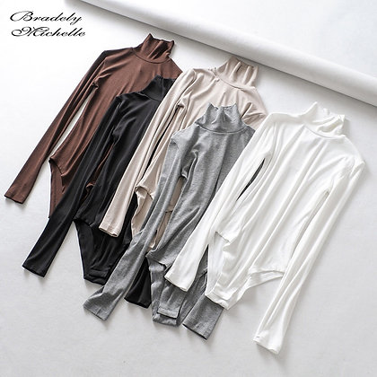 BRADELY MICHELLE - High-Neck Long-Sleeve Bodysuits / Jumpsuits