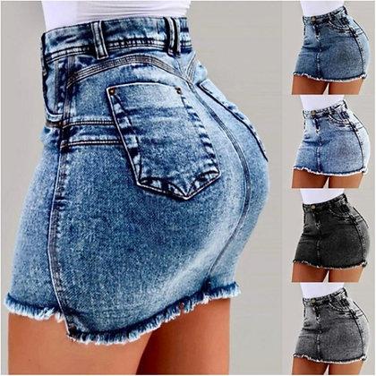CHRLEISURE - Sexy Denim Short Slim Fit Clubwear Skirts