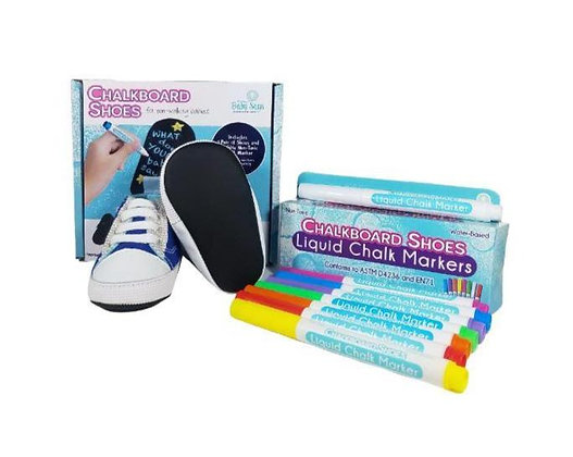 Blue Sneakers and 8-Pack Marker Set