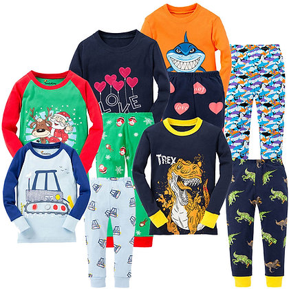 Animal - Motorcycle Pajama Sets for 1-8Years